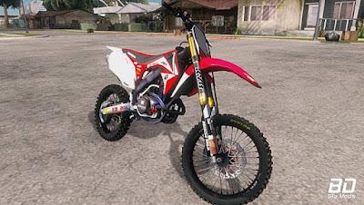 Download , Mod , Moto , Honda CRF 450 2012  para GTA San Andreas, GTA SA , Jogo PC