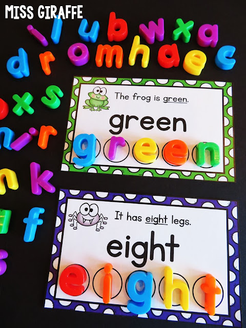 A ton of fun ideas for learning color words and number words.. and other sight words as well!