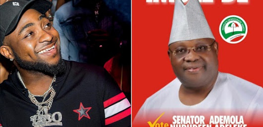 - Davido Congratulates His Uncle Ademola Adeleke As He Wins Osun State PDP Governorship Ticket
