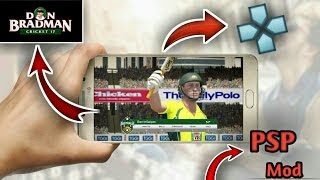 Don Bradman Cricket 17 For Android PPSSPP ISO highly compressed