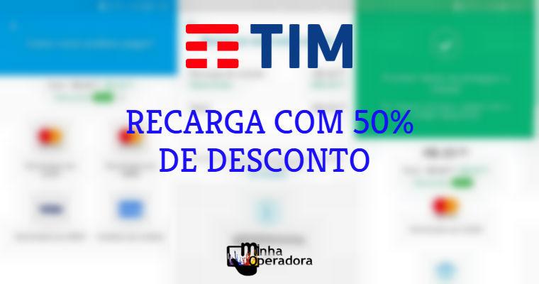 Recarga TIM com 50% de desconto no Mercado Pago - Minha Operadora 7e4bb2a578d79