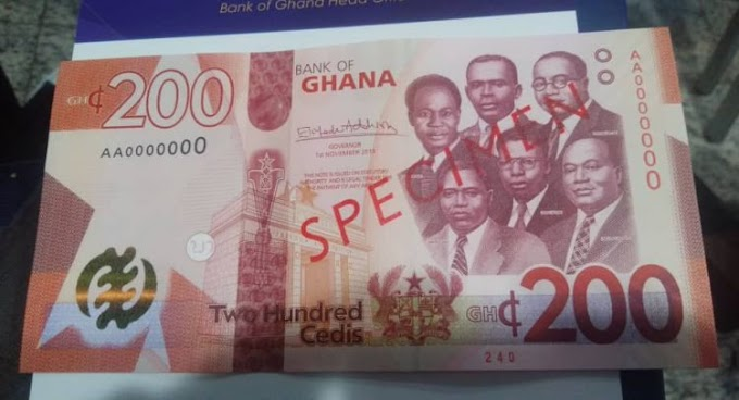 BoG Introduces GH¢ 100, GH¢ 200 Banknotes