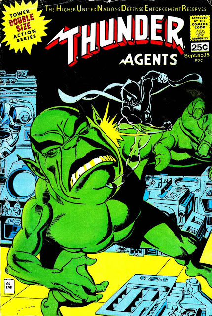 Thunder Agents v1 #14 tower silver age 1960s comic book cover art by Gil Kane