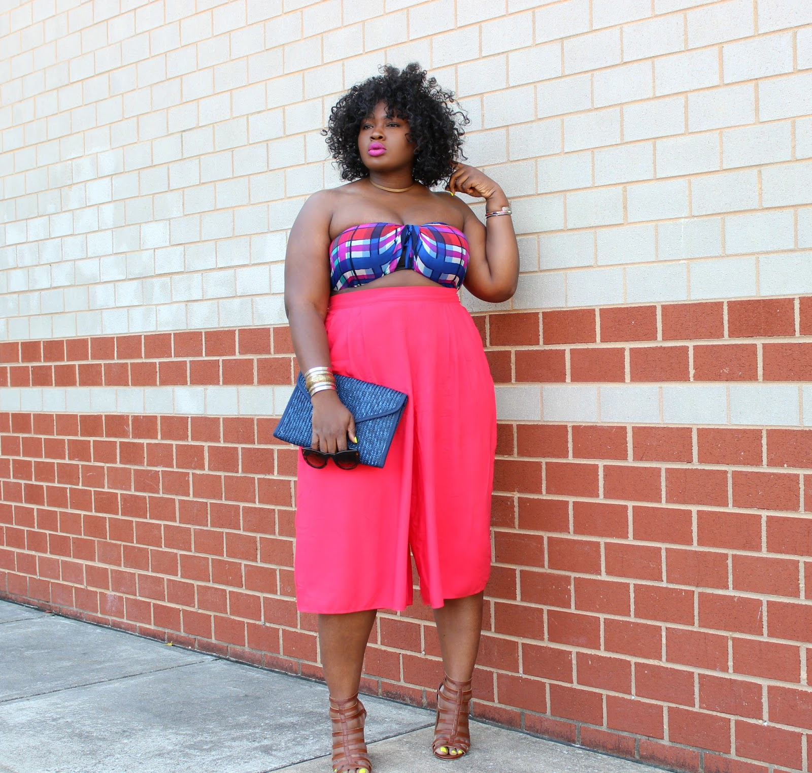 Fool Proof Fourth of July Outfit : Red Culottes & DIY Bandeau