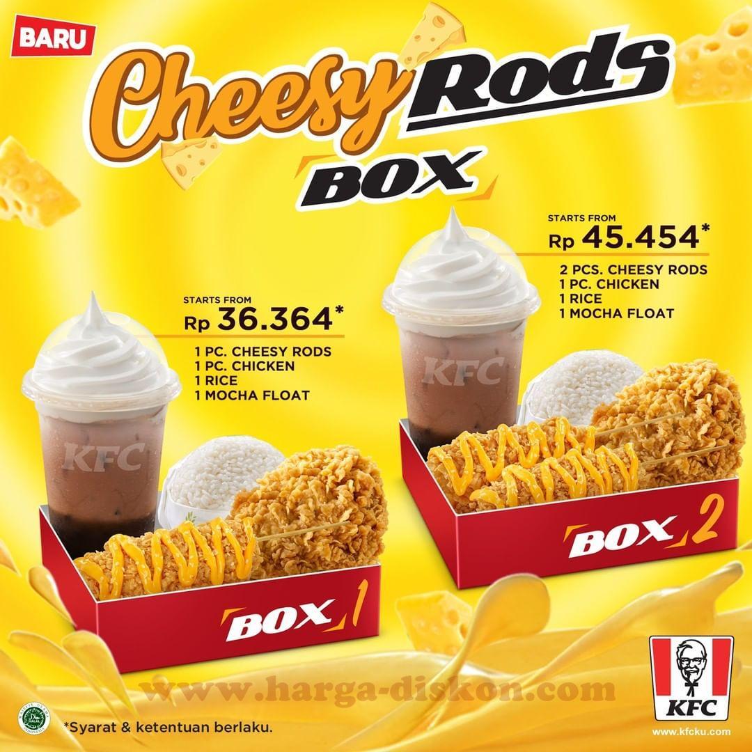 Promo Kfc Menu Baru Kfc Cheesy Rods Box Mulai Rp36 364