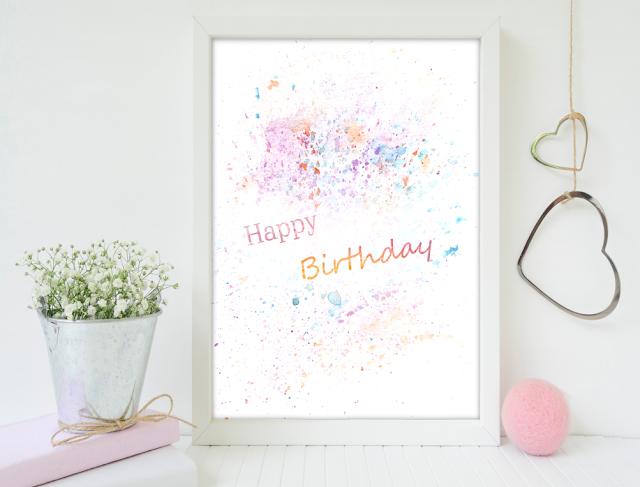 Happy Birthday Printable Card