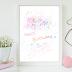 ↣ FREE Watercolor - Happy Birthday Printable Card