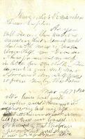 "Henry ""Vort"" Turner's letter to Henry Atherton"