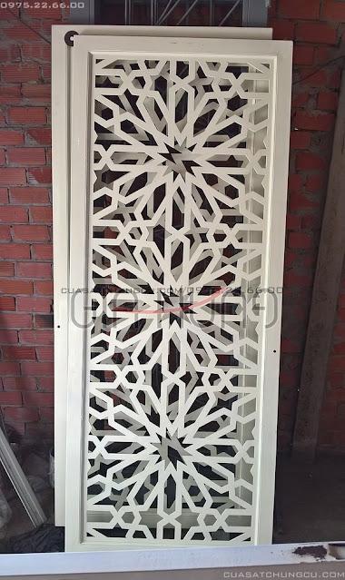 Mẫu cửa sắt chung cư tại chung cư Han Jardin