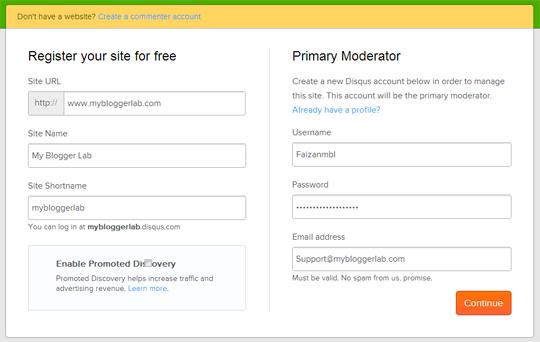 كيفية دمج نظام DISQUS للتعليق في مدونة بلوجر Blogger؟