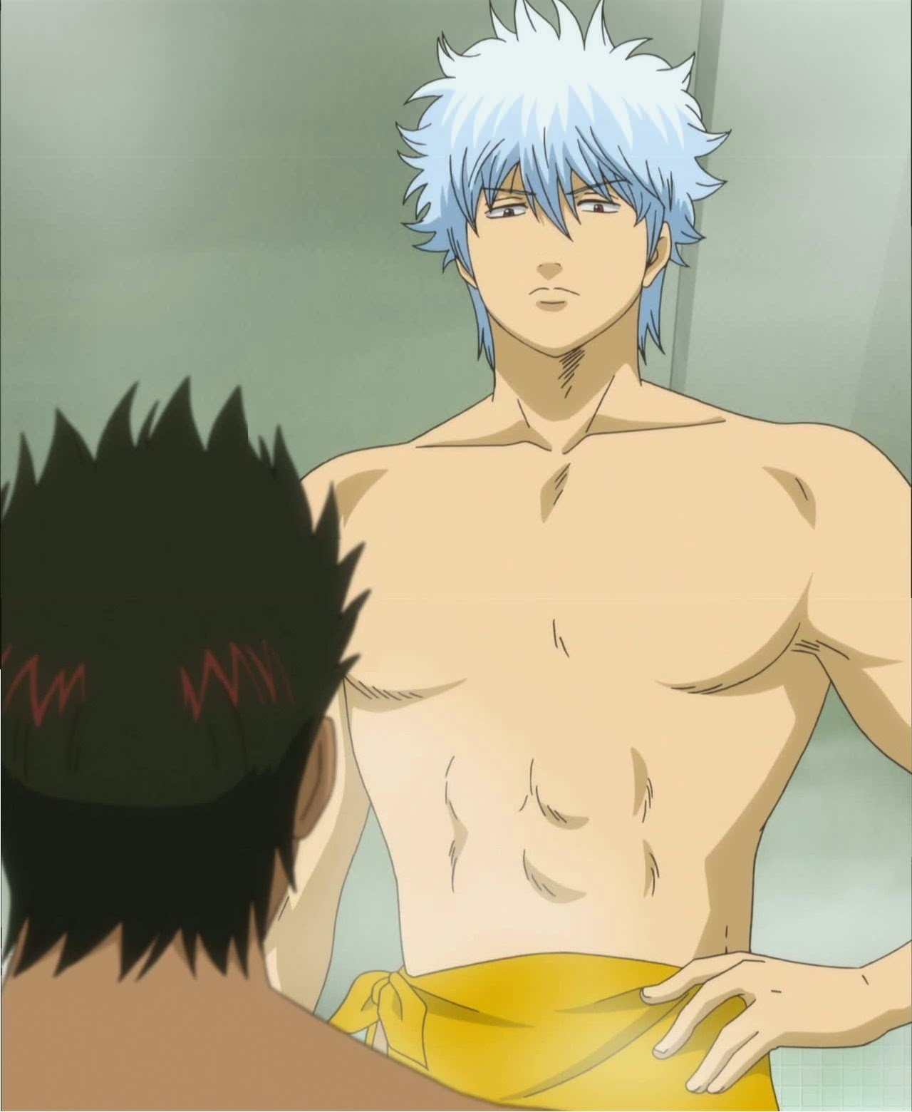 Gintoki Sakata, Gintama, hottest anime guys, shirtless