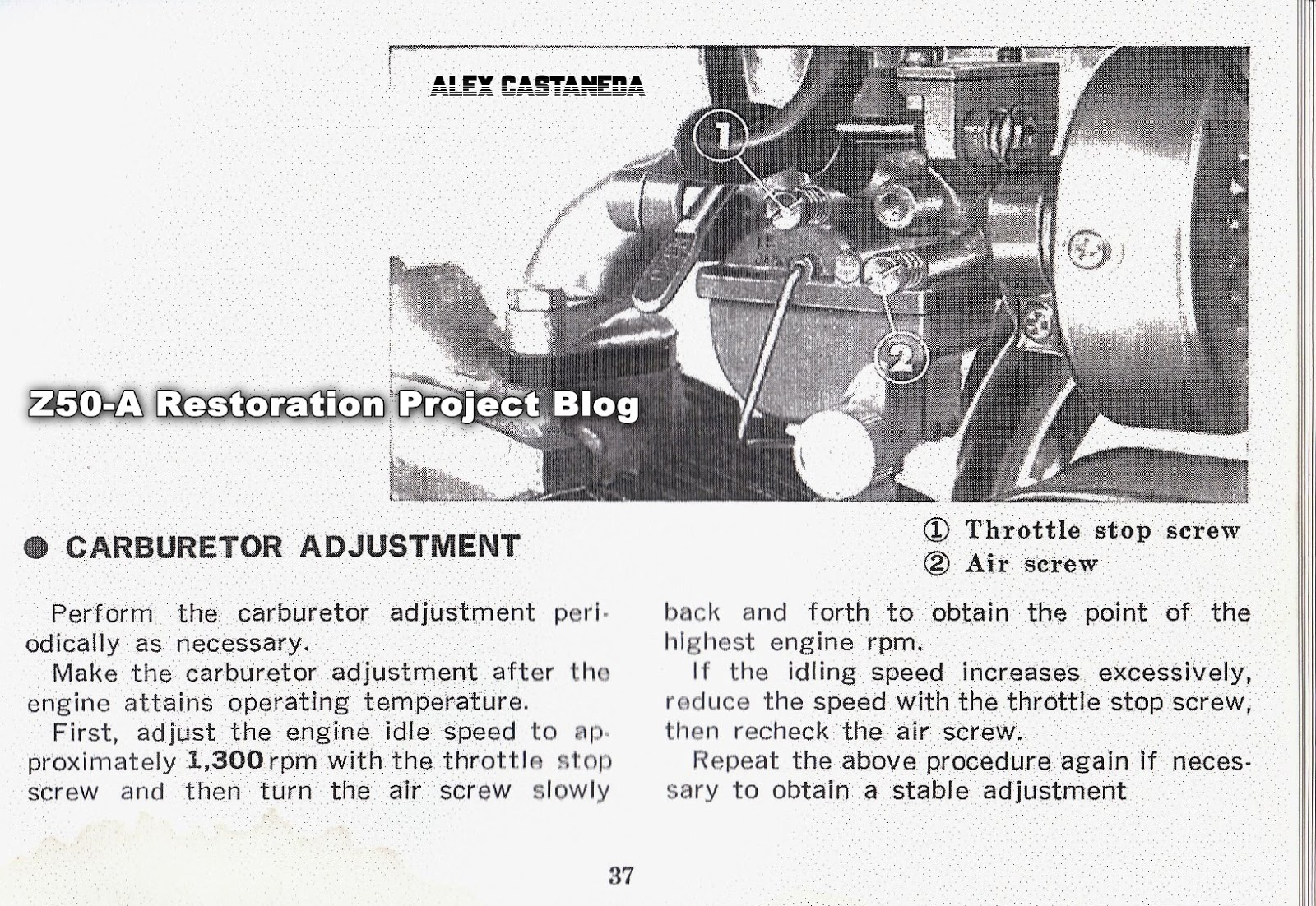 Vintage Honda Keihin Carburetor Instruction Sheet Repair Kit Diagram In Addition Cv On This Next Image Is From A 1969 Parts Manual For The Z50a North American Market Model Ko K1 Assembly 16100 045 670 Part Number