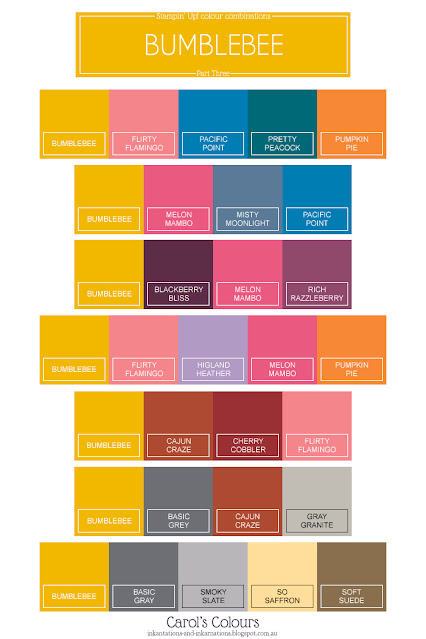 Bumblebee colour combinations graphic Part Three