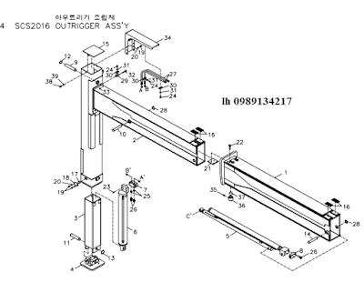 Chân- khung bệ của Cẩu soosan 20 tấn SCS2016