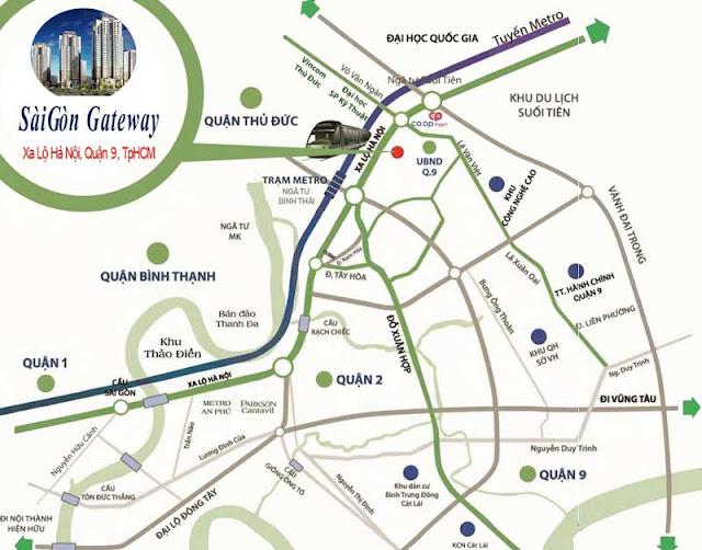 Dự án Sài Gòn Gateway nắm giữ vị trí đắc địa bậc nhất quận 9