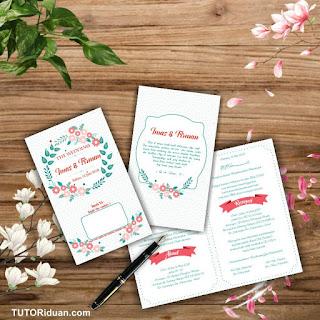 Free Undangan Pernikahan Photoshop