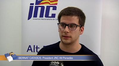 """Bernat Catasús, presidente de la Joventut Nacionalista de Cataluña, desea """"una muerte lenta y dolorosa"""" a los guardias civiles"""