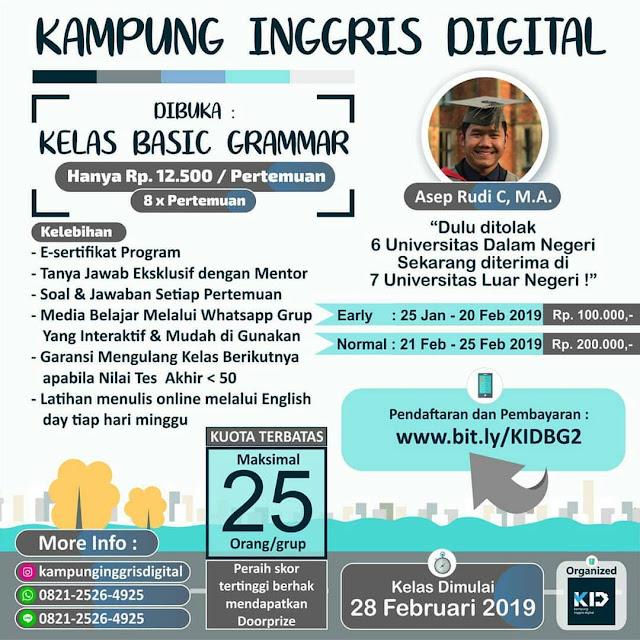 Program Kampung Inggris Digital Basic Grammar 2019