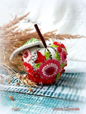 яблоко, текстильное, тильда, интерьерное,