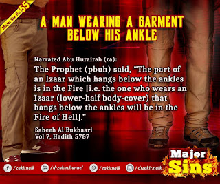 MAJOR SIN. 55. A MAN WEARING A GARMENT BELOW HIS ANKLE