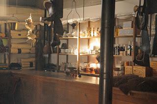sutler's store interior