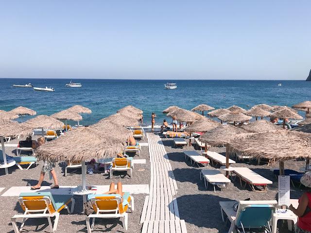 Kamari Beach Santorini Greece - Stayed at Katrakus Sea View for a budget itinerary