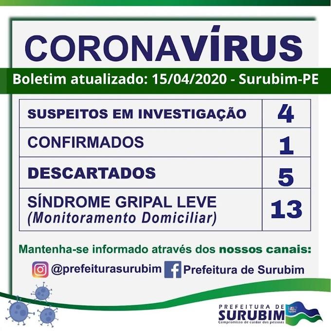 URGENTE: SURUBIM TEM PRIMEIRO CASO DE CORONAVIRUS CONFIRMADO