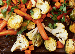 Herb-Crusted Baked Vegetables