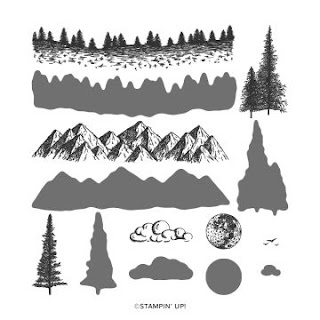 Mountain Air stamp set