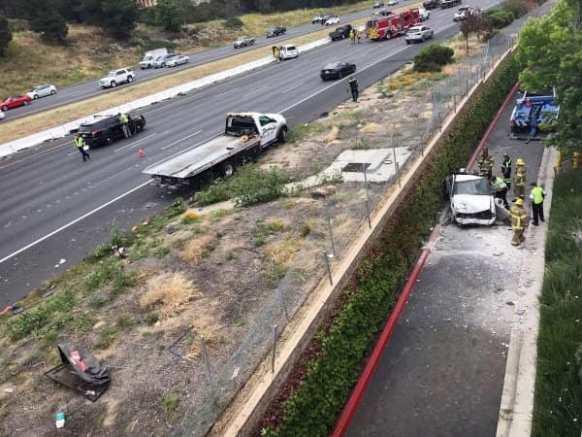 سائق مخمور يتسبب بحادث مروري مروع..! فيديو