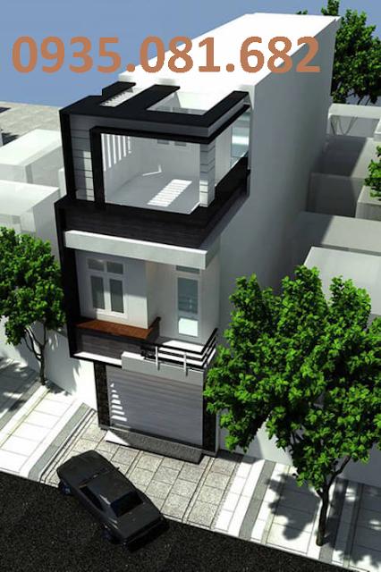 mẫu nhà phố 3 tầng hiện đại