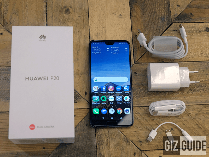 Huawei P20, box and accessories!