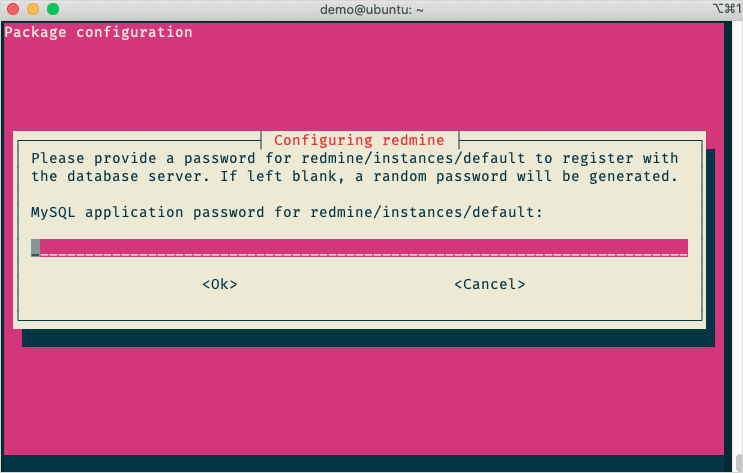 Package Configuration 詢問MySQL密碼