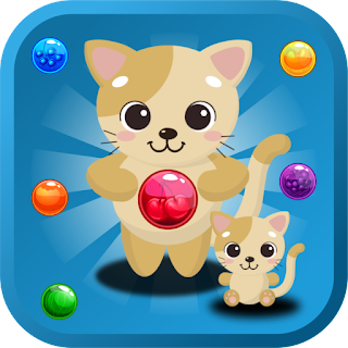 Cute Cat the Bubble Shooter