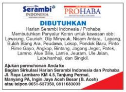 Harian Serambi Indonesia / Prohaba