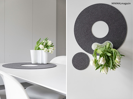 Tulpen in der Vase - Tischuntersetzer aus Filz, mehr Ideen findest du im MINIMALmagazin