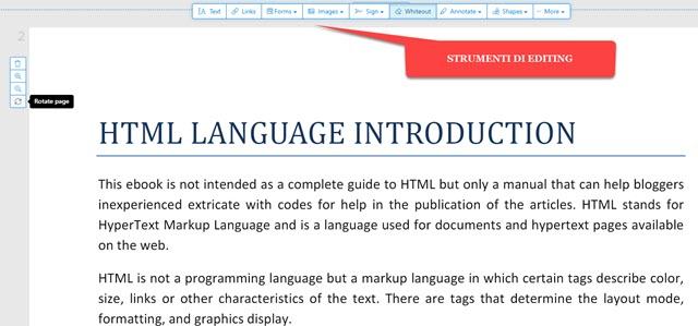 editare PDF online