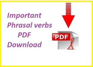 Important phrasal verbs pdf download