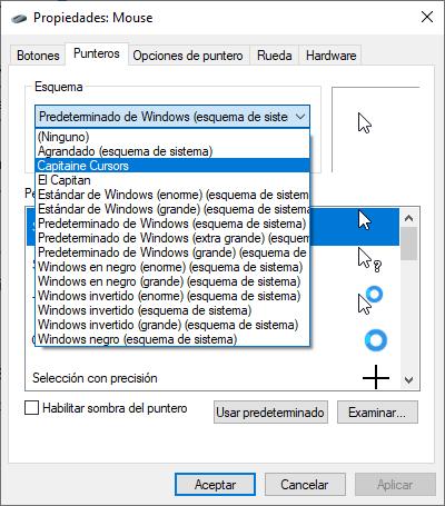 macOS puntero mouse para Windows 10