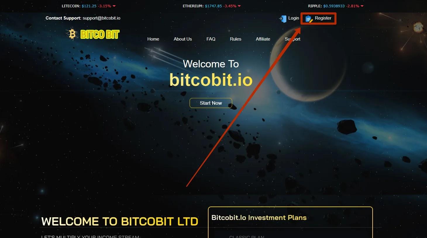 Регистрация в BitCoBit