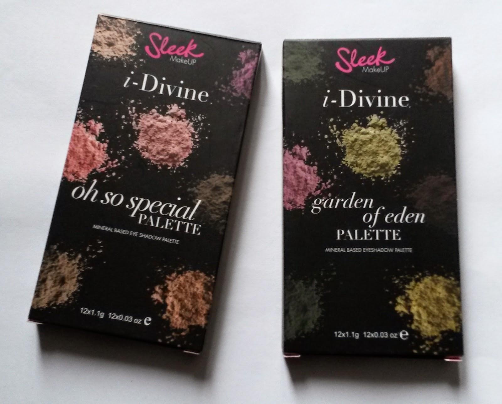 les palettes I-Divine Sleek