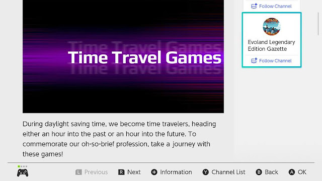 Nintendo Switch News Time Travel Games Daylight Saving Time
