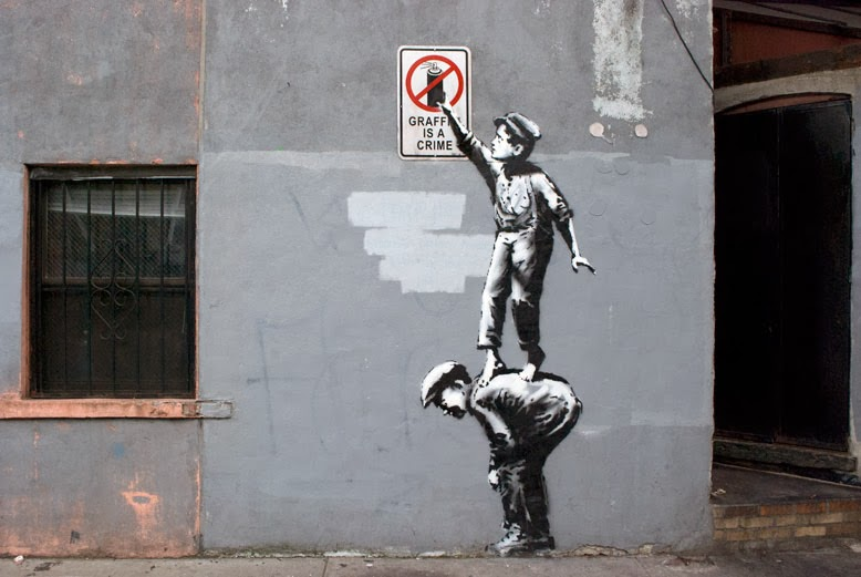 ©Banksy. Better Out Than In. (#banksyny). An artist residency on the streets of New York. Street Art