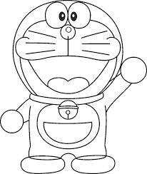gambar sketsa Doraemon