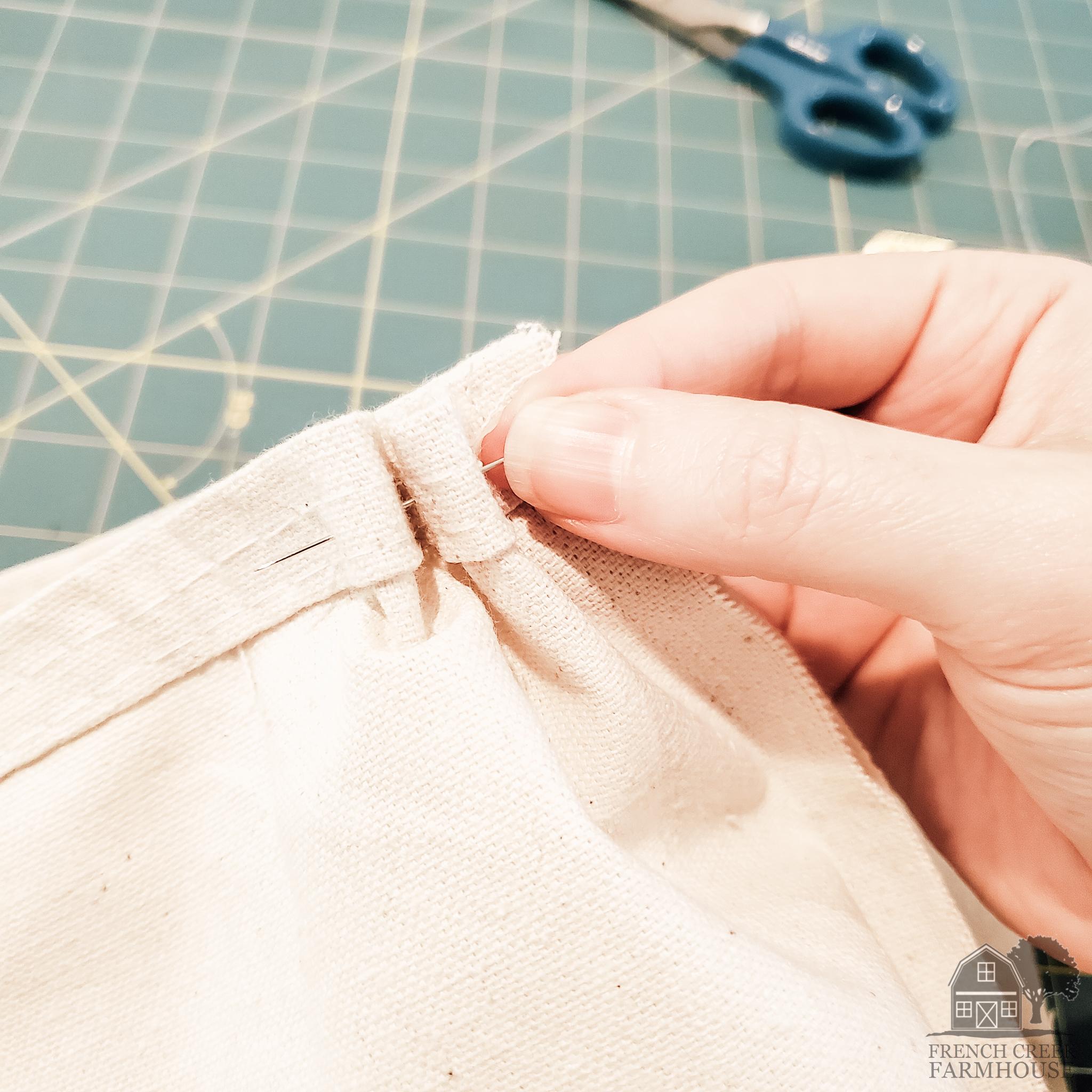 Sew a gathering stitch around the pumpkin