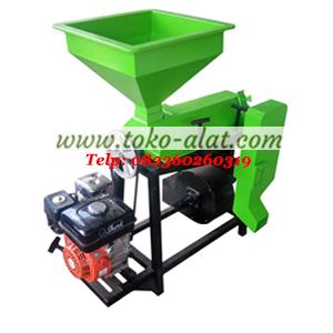 Mesin pengupas kulit kopi kering (mesin huller portable)
