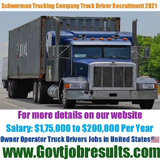 Schwerman Trucking Company Owner Operator Truck Driver Recruitment 2021-22