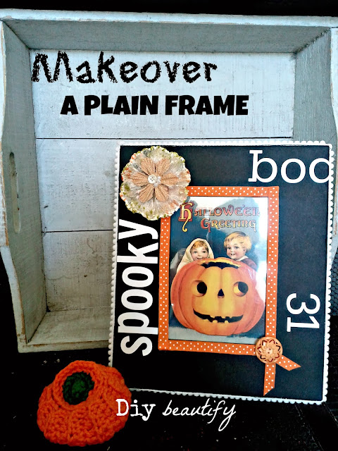 Easy vintage Halloween decor DIY