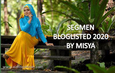 Segmen Bloglisted 2020 by Misya