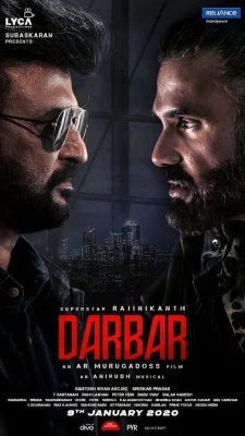 Poster Of Darbar Full Movie in Hindi HD Free download Watch Online Tamil Movie 720P